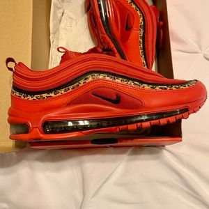 Nike Shoes - Wmns Nike Air Max 97 Leopard Pack (Red)